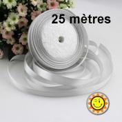 1 Roll LIGHT GREY SATIN 10 mm per 25 metres