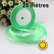 1 Roll LIGHT GREEN SATIN 10 mm per 25 metres