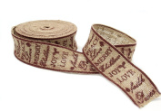 ZHJZ Christmas Hessian Burlap Ribbon for DIY Christmas Party
