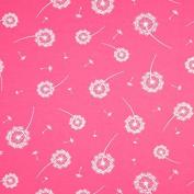 Bulk Goods Jersey Fabric 0.5 Pink Dandelion Dandelion 5% Elastane 95% Cotton Width 140 cm Sold by the Metre (Size