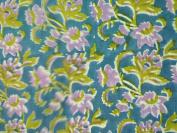 Handicraftofpinkcity dots cheque Designer Hand Block Printed Cotton Fabric Indian Stylish Printed Fabric Craft Material Curtains Dressing 5 Yards