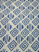 Handicraftofpinkcit blue flower printed Cotton Fabric Indian Stylish Printed Fabric Craft Material Curtains Dressing 5 Yards