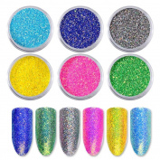 SO-buts New Nail Powder Neon Mirror glitter Mirror Effect Rainbow Crystal Opal