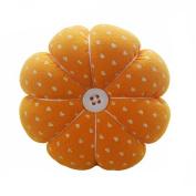 Sewing Needle Pin Cushion Pumpkin Shaped Holder Wrist Strap Safety Craft Tool Random Colour