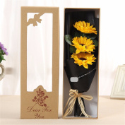 Christmas gifts Father's Day gift 3 flower bouquet bouquet flower bouquet, graduation season to send the teacher's father gift
