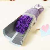 Christmas gifts Soap flower bouquet, mother's day, teacher's Day gift, soap flower send mother to send the teacher,Violet
