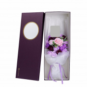 Christmas gifts Creative gifts, roses soap, flower gift box, Valentine's day, birthday gift,Violet