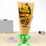 Christmas gifts Teacher's Day gift, father's Day gift, the sun flower fragrance soap flower gift box flower sends daddy teacher