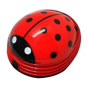 Kicode Cute Cartoon Animal Electric Mini Vacuum Cleaner Dust Collector Ladybug Shape Desktop