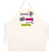 "Attitude Aprons Fully Adjustable ""Scrapbooked it"" Artist Apron"