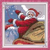 Chreey Merry Christmas (Santa Claus) Series - Cross Stitch Fashion Crafts Home Art Decoration [13x13cm]