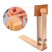 Wood Leathercraft Table Desktop Lacing Pony & Sewing Horse For DIY Stitching Leather Tools