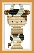 Chreey 12 Zodiac Animals - Cute Cattle Baby Cross Stitch Fashion Crafts Home Art Decoration [10x16cm]