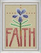 Chreey Text Label Series - Faith Cross Stitch Fashion Crafts Art Decoration [18x26cm]