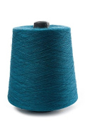 Flaxen Europe Blue 100% Linen Yarn Cone - 2.700 metres - 12x12x16 cm - 0,5 KG (1 LBS) - Twisted from 3 PLY - Turquoise Colour - Pure Flax Thread
