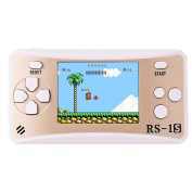 ZHISHAN Portable Handheld Game Console Gaming Player Birthday Gift for Kids Built in 168 Classic Retro Games.Gold.