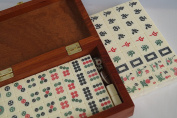 Mini Chinese Mahjong Game Set in Wooden Box