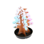uhoMEy Colourful Magic Growing Crystal Tree Paper Christmas Tree Experiment Kit Gift Cardboard Entertaining for Kids Toy