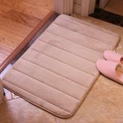 TS-nslixuan Bathroom Skid Pad Coral Fleece Water Bath MatCamel40X60Cm