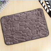 TS-nslixuan Sponge Mat Printing Living Room Antiskid PadGray50X80