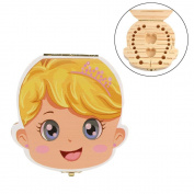 hunpta Tooth Box Organiser for Baby Milk Teeth Save Wood Storage Box for Kids Boy & Girl