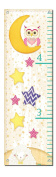 Bedtime Child's Growth Chart; Childrens Room or Nursery Decor; One 30x107cm Canvas Chart. Yellow/Pink/Purple/Teal