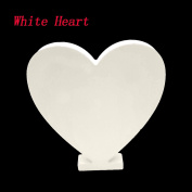 Asdomo Woodcraft White Wooden Letters 15cm Alphabet Wedding Birthday Party Home Nursery Wall Decorations