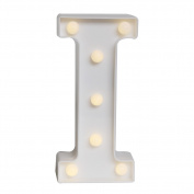 GB UNICORN Wall Letters Light At Symbol Battery Marquee Letter Lights Alphabet Light Up Sign for Wedding Home Party Bar Decoration(White I)