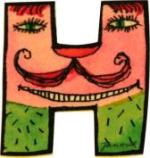 Mihatsch & Diewald ImseVimse Janosch Wooden Letter H 6 cm