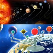 Simulation 9 Planets Solar System Toys, Indexp Removable Planetarium Model Kit Frame DIY Colour Track Kids Acknowledge Educational Toys