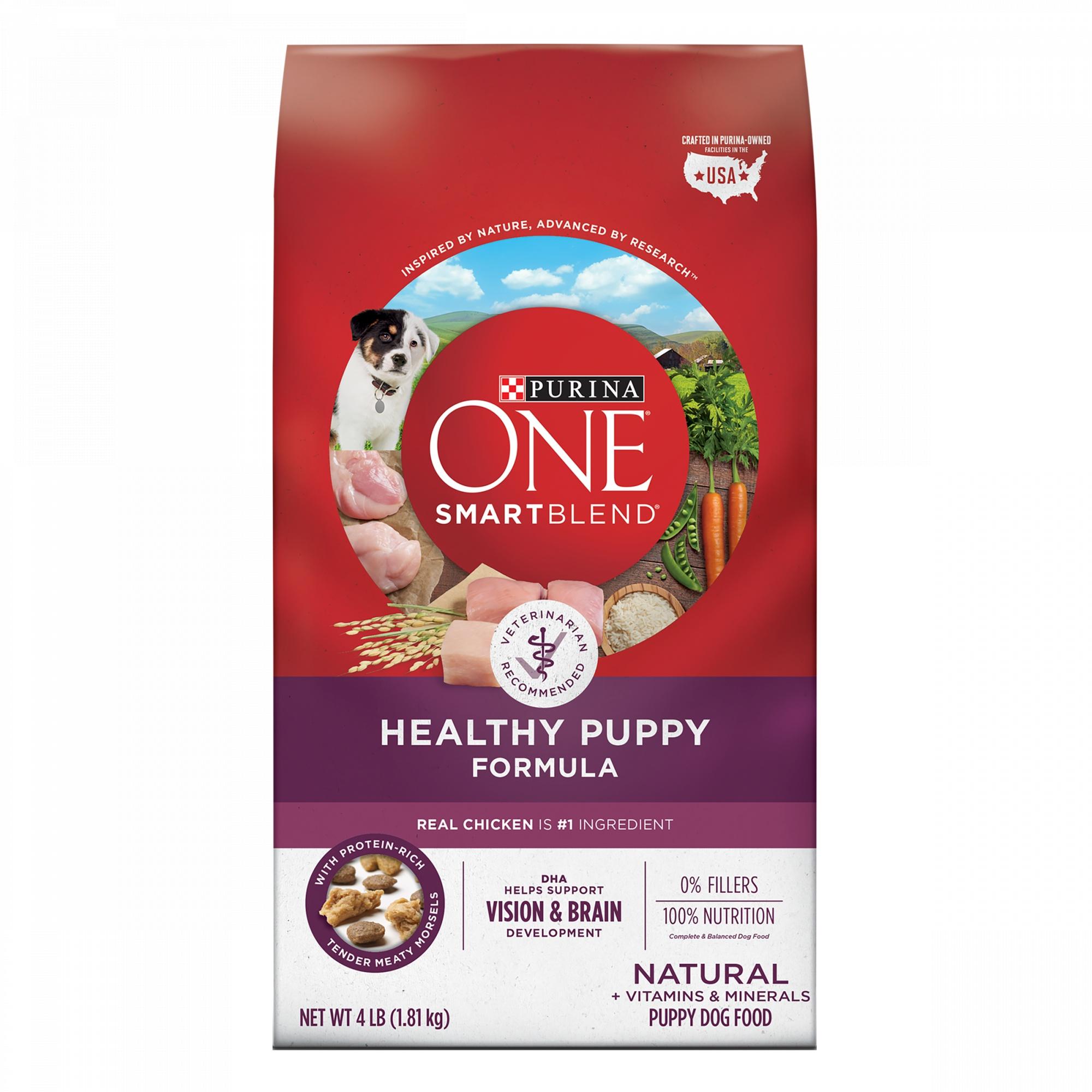 Purina ONE Smart Blend Healthy Puppy Formula Dog Food 1 8kg  Bag
