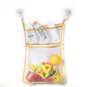 ODN Bathroom Mesh Net Storage Bag with Hook Bath Bathtub Toy Hanging Holder
