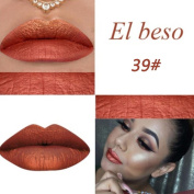 Niceyo Pearl Lip Gloss Waterproof Long Lasting Metallic Colour Not sticky and Fading 14239#El Beso