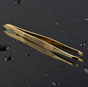 Fengh Professional Eyebrow Shaping Facial Hairs Removal Tool Golden Tone Tweezer