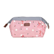 DaoRier Canvas Cosmetic Bag Makeup Travel Bag for Girls