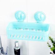 Strong Suction Cups Racks / Wall-Mounted Bathroom Horns Toilets Kitchen Bathroom Shelves,Blue