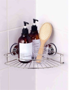Extremely Firm Shower Shelf Bathroom Triangular Frame Toilet Suction Cup Angle Frame Stainless Steel Toilet Shelves Wall-mounted Bathroom Supplies ensuring quality