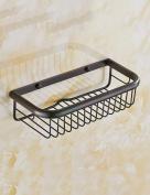 Extremely Firm Shower Shelf All Copper Bathroom Hardware Pendant Black Antique Square Basket European - Style Toilet Shelves ensuring quality