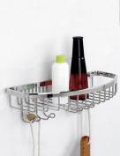 Extremely Firm Shower Shelf Stainless Steel Net Basket Rack Bathroom Accessories Bathroom Toilet Shower Room Single Layer Network Shelf ensuring quality