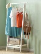 Floor Stand Hanging Rack Coat Rack Bedroom Enter The Door Shoebox Wardrobe Combination Simple Solid Wood Clothes Hanger Floor Type Hangers Floor Standing Coat and Hat Stand