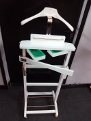 Cano Valet Stand, Wood, white, 36 x 45 x 127 cm