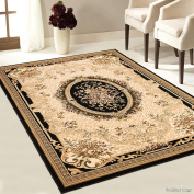 Allstar Black High-End Ultra-Dense Thickness Weight Woven Traditional Persian. High Quality Area Rug