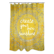 Oliver Gal Your Own Sunshine Shower Curtain