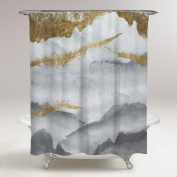 Oliver Gal Tibet Mountains Shower Curtain