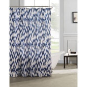 Caitlin Cotton Satin-Look Fabric with Quilting Shower Curtain