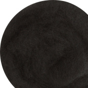 100% Wool for Felting or Spinning Carded Roving Wool for Both Dry and Wet Felting - Black, 100 g
