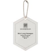 Ez Quilting Mini Long Hexagon Acrylic Template, Transparent