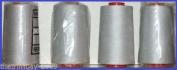 Light Grey 58 Overlocking Sewing Machine Polyester Thread Four 5000 Yards Cones