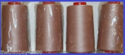 Beige Pink 8 Overlocking Sewing Machine Polyester Thread Four 5000 Yards Cones