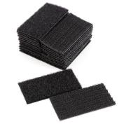 Black Hook and Loop Blocks Pads Self Adhesive Sticky
